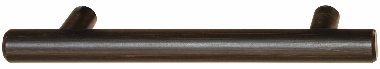 "Hafele 117.97.165 Bar Pull, Cosmopolitan, steel, bronze copper, 121ST23 8-32, center to center 88.9MM (3 1/2"") (each)"