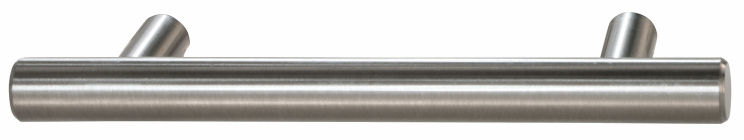 "Hafele 117.97.665 Bar Pull, Cosmopolitan, steel, brushed nickel, 102ST23, 8-32, center to center 88.9mm (3 1/2"") (each)"
