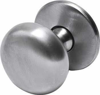 Hafele 123.02.600 Knob, Mulberry, brass, brushed nickel, 102BR01, M4, 32mm, with 25mm screws (each)