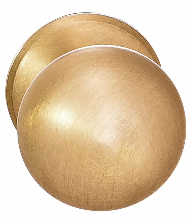 Hafele 123.02.660 Knob, Mulberry, brass, brushed brass, 119BR01, M4, 32mm, with 25mm screws (each)