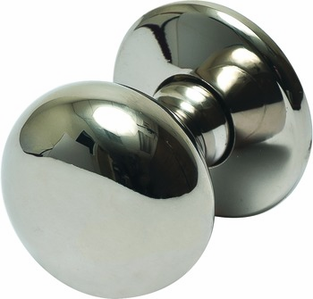 Hafele 123.02.710 Knob, Mulberry, brass, polished nickel, 112BR01, M4, 38mm, with 25mm screws (each)
