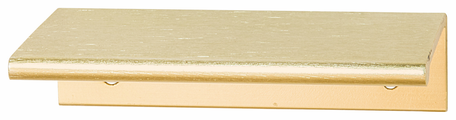 Hafele 124.02.500 Handle Tab, aluminum, brushed brass, 119AL53, center to center 25mm (each)