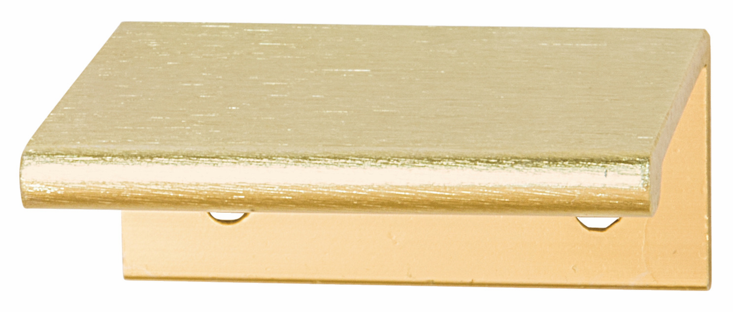 Hafele 124.02.501 Handle Tab, aluminum, brushed brass, 119AL53, center to center 50mm (each)