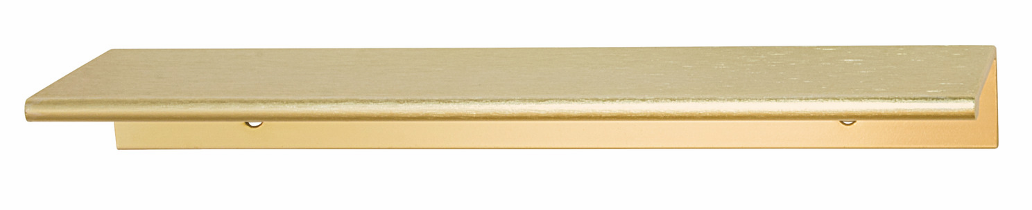 "Hafele 124.02.502 Handle Tab, aluminum, brushed brass, 119AL53, center to center 4"" (each)"