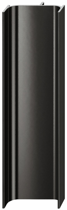Hafele 126.37.312 Vertical Profile, Passages Collection, aluminum, black, RAL9005, 2500mm (each)