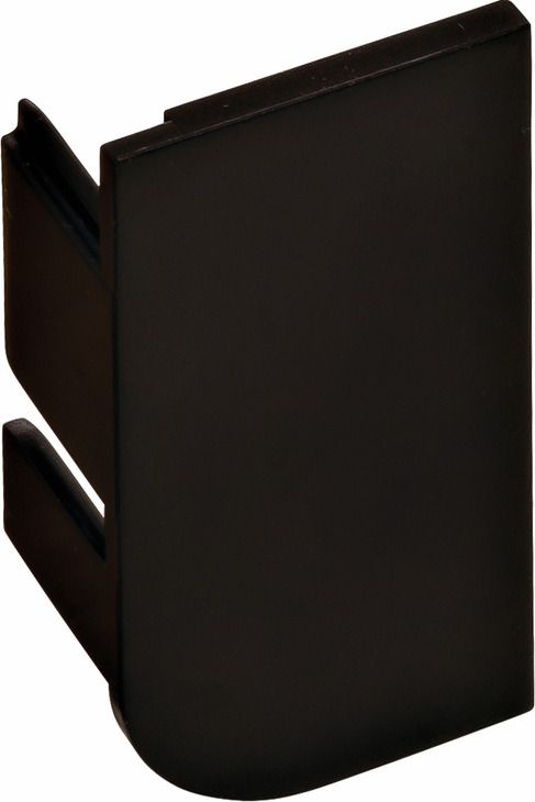 Hafele 126.37.938 End Cap, L-Profile, Passages Collection, plastic, black, RAL9005, left (each)