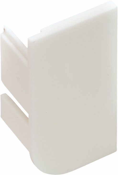 Hafele 126.37.978 End Cap, L-Profile, Passages Collection, plastic, white, RAL9010, left (2 pcs/pkg***)