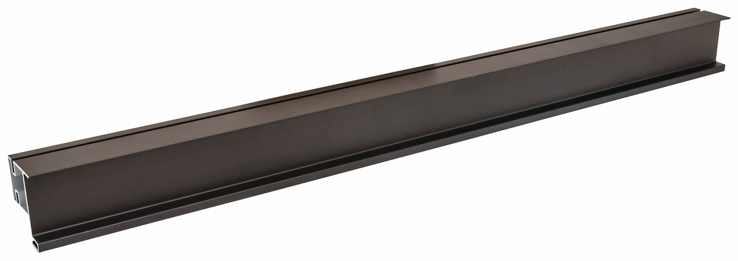 Hafele 126.63.014 Vertical end profile, Venice, aluminum, dark bronze, 108AL38, 2895mm (each)