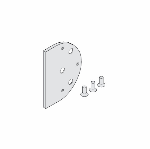 Hafele 941.24.094 Spacer, for lock bracket mounted to wall, Junior 120, aluminum, anodized, 12mm (each)