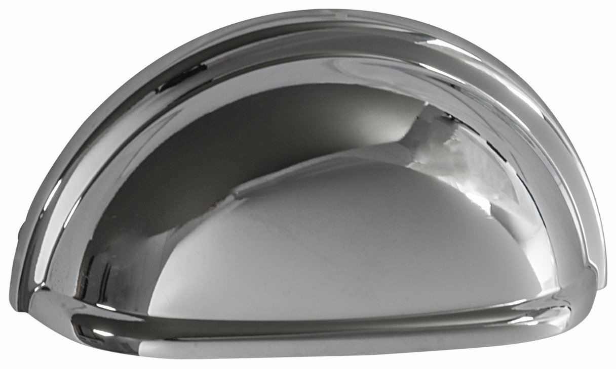 "Hafele 133.50.134 Cup handle, Amerock Allison, zinc, polished chrome, 101ZN73, 8-32, center to center 76mm, includes 1"" screws (each)"