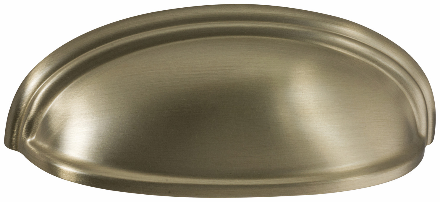 "Hafele 133.50.135 Cup handle, Amerock Ashby, zinc, golden champagne, 187ZN73, 8-32, center to center 76 / 102mm, includes 1"" screws (each)"