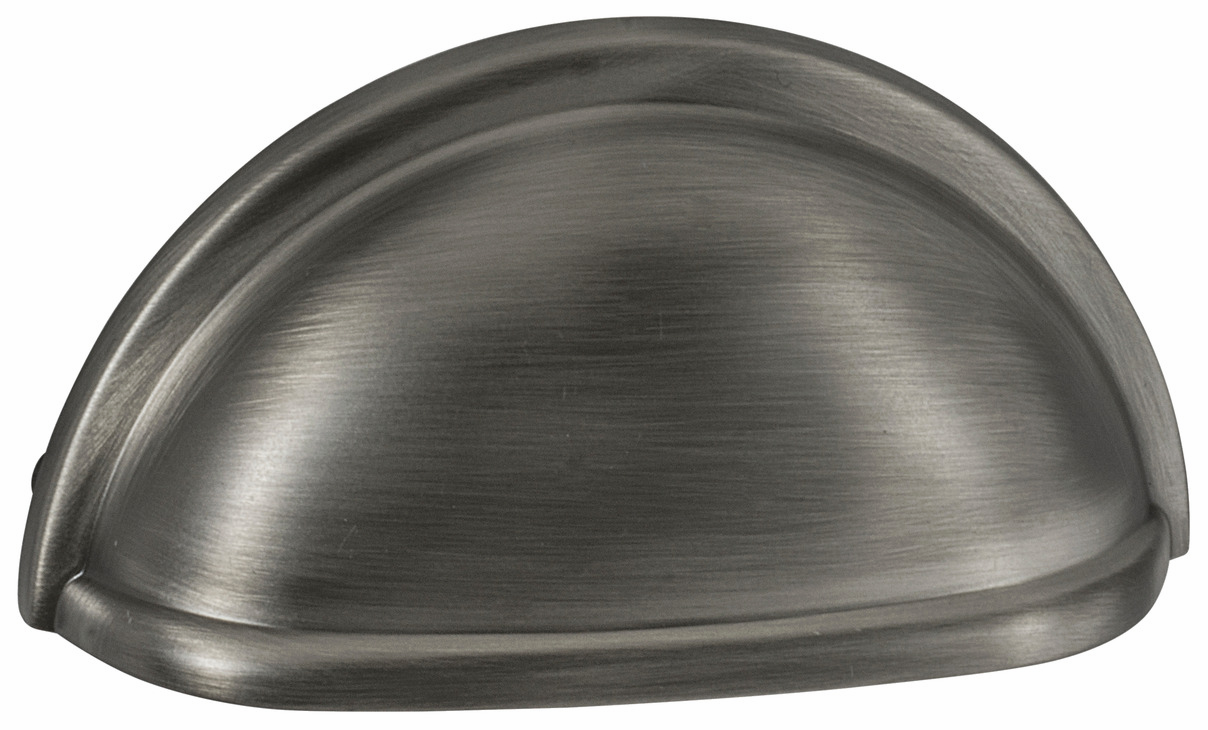 "Hafele 133.50.146 Cup handle, Amerock zinc, antique silver, 142ZN73, 8-32, center to center 76mm, includes 1"" screws (each)"