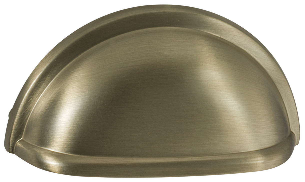"Hafele 133.50.147 Cup handle, Amerock zinc, golden champagne, 187ZN73, 8-32, center to center 76mm, includes 1"" screws (each)"