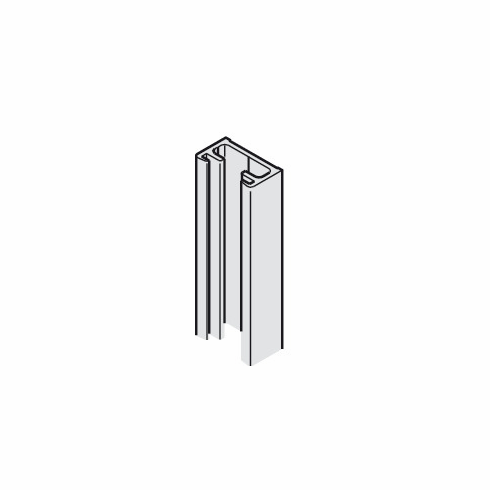 Hafele 941.24.935 Wall Profile, aluminum, anodized, 3.5 meters (each)