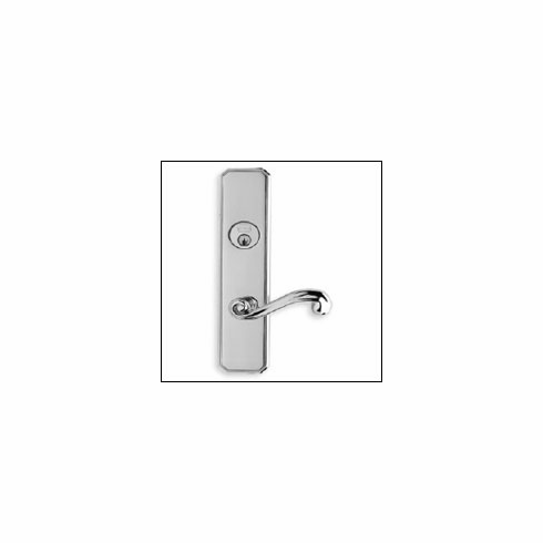"Omnia 11055-MAX Mortise Lock with plate 10-5/8"" OL MS-Max Steel"