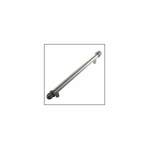 MNG Hardware Designer Hardware 20311-8-DR ; 20311 8 DR Braid Tube Handle Projection 2 1/2 inch, 12 inch x 1 1/2 inch, 8 inch C.C. Stainless & Satin Silver Antique