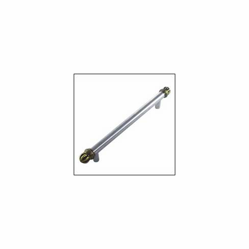 MNG Hardware Designer Hardware 20320-6-DR ; 20320 6 DR Braid Tube Handle Projection 2 1/2 inch, 10 inch x 1 1/2 inch, 6 inch C.C. Stainless & Satin Brass Antique