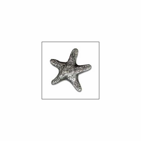 MNG Hardware Designer Hardware ASF-SV-ANT ; ASF SV ANT Star Fish Knob Projection 7/8 inch, 1 1/2 inch x 1 1/2 inch Silver Antique