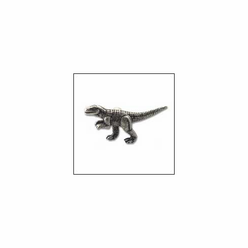 MNG Hardware Designer Hardware DN1-SV-ANT ; DN1 SV ANT Al Dinosaur Knob Projection 1 inch, 2 1/2 inch x 1 3/8 inch Silver Antique