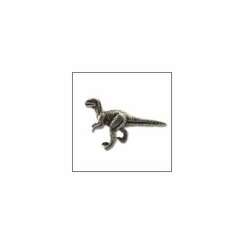 MNG Hardware Designer Hardware DN2-SV-ANT ; DN2 SV ANT Rex Dinosaur Knob Projection 1 inch, 2 1/4 inch x 1 1/4 inch Silver Antique