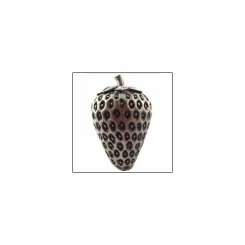 MNG Hardware Designer Hardware STB-SV-ANT ; STB SV ANT Strawberry Knob Projection 1 3/4 inch, 1 inch x 1 1/2 inch Silver Antique
