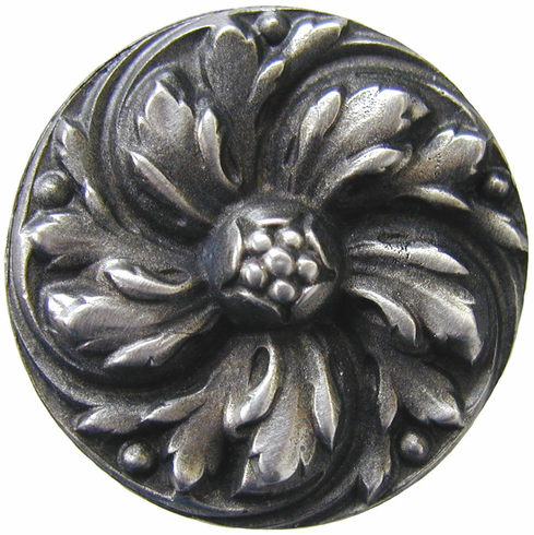 "NHK-100-AP Chrysanthemum Knob Antique Pewter 1-3/8"" Dia 7/8"" Proj Classic Collection by Notting Hill"