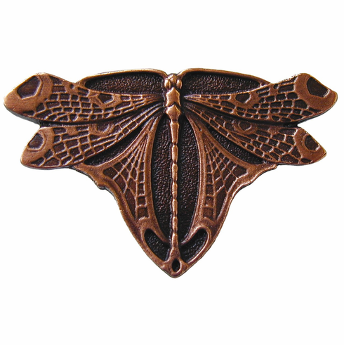 "NHK-107-AC Dragonfly Knob Antique Copper 1-3/4"" w x 1-1/8"" h 7/8"" Proj Period Pieces Collection by Notting Hill"