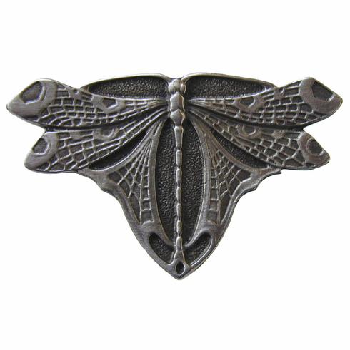 """NHK-107-AP Dragonfly Knob Antique Pewter 1-3/4"""" w x 1-1/8"""" h 7/8"""" Proj Period Pieces Collection by Notting Hill"""