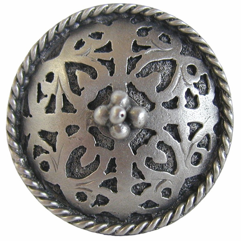 """NHK-112-AP Moroccan Jewel Knob Antique Pewter 1-1/16"""" Dia 7/8"""" Proj Period Pieces Collection by Notting Hill"""