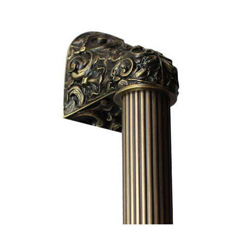 """NHO-500-AB-14F Acanthus Antique Brass/Fluted Bar 14"""" OL 10"""" Base 2-3/8"""" x 2 1/8"""" 2-1/2"""" Proj King's Road Collection by Notting Hill"""