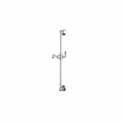 ROHL 1230STN Rohl Palladian All Brass Sliding Rail In Satin Nickel With Metal Lever On Sliding Mechanism