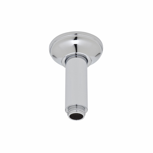 ROHL 1505/3OI Rohl Ceiling Mounted Shower Arm 3^ Length Brass For Overhead Shower 26Mm Diameter 1/2^M X 1/2^M Npt With Brass Sliding Escutcheon In Old Iron