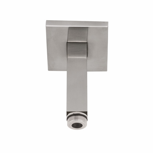 ROHL 1510/3STN Rohl Square Ceiling Mounted Shower Arm 3^ Length Brass For Overhead Shower 1/2^M X 1/2^M Npt With Brass Sliding Escutcheon In Satin Nickel