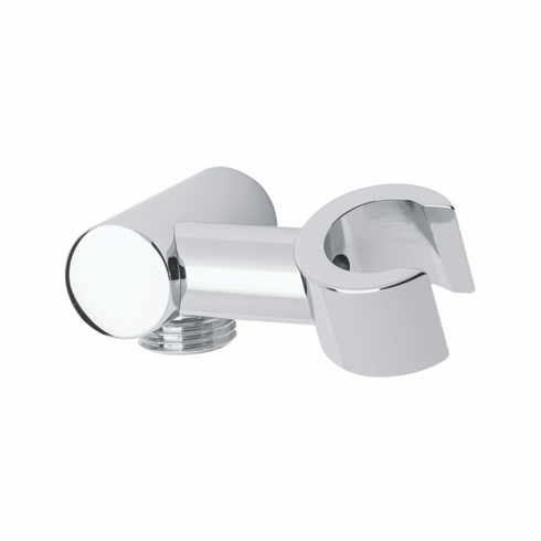 ROHL 1630STN Rohl Cylindric Pivoting Handshower Holder With 1/2^M Outlet And 1/2^F Inlet For Connection To Wall Mount Shower Arm Outlet In Satin Nickel