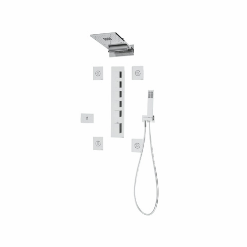 ROHL 26850APC **Special Order Only Non-Cancelable And Non-Returnable** Rohl Yes Chromotherapy Lighted Three Function Showerhead Set Complete Shower System Made Of