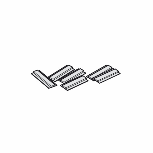 Hafele 940.40.033 Glide Set, plastic, for 8mm thick glass