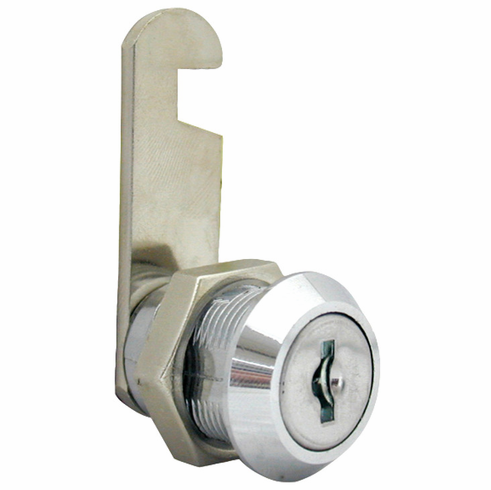 "Hafele 235.20.200 Cam Lock, zinc, chrome-plated, 5/8"", keyed different (each)"