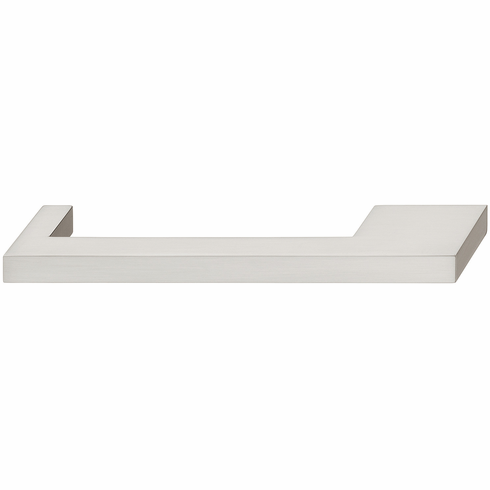 Hafele 110.34.655 Handle, Nouveau, zinc, brushed nickel, 102ZN24, M4, center to center 128/160mm (each)
