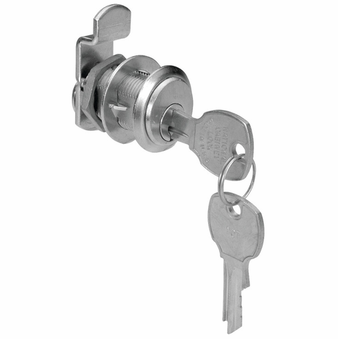 "Hafele 235.10.304 Cam Lock, C8103, overlay, 1 3/16"", brushed chrome, K915 (each)"