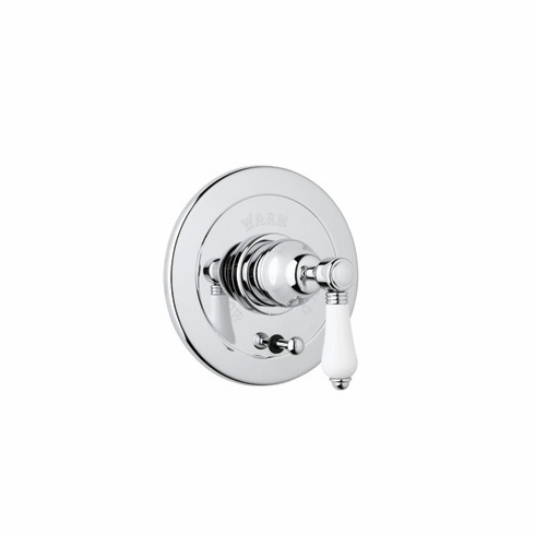 ROHL A7400XCPN **Kit** Rohl Country Bath Trim Kit For Pressure Balance With Integrated Volume Control In Polished Nickel With Crystal Cross Handle And Diverter