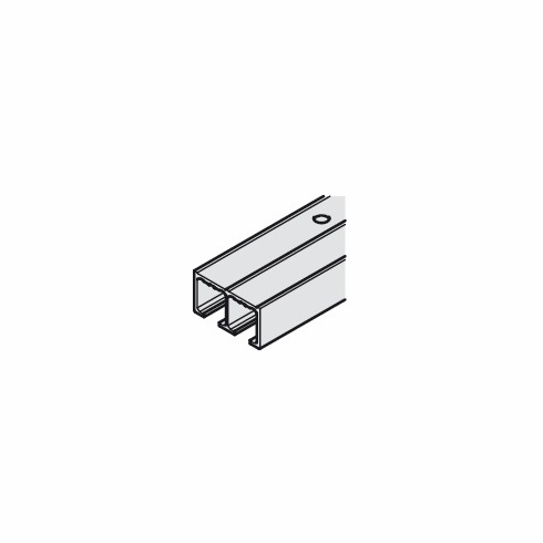 Hafele 405.90.962 EKU Clipo 16 Double Top Track, surface mounted, pre-drilled, aluminum anodized, 2.5 meter (each)