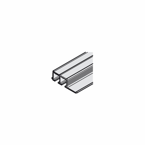 Hafele 405.90.972 EKU Clipo 16 Double Top Track, recess mounted, pre-drilled, aluminum anodized, 2.5 meter (each)