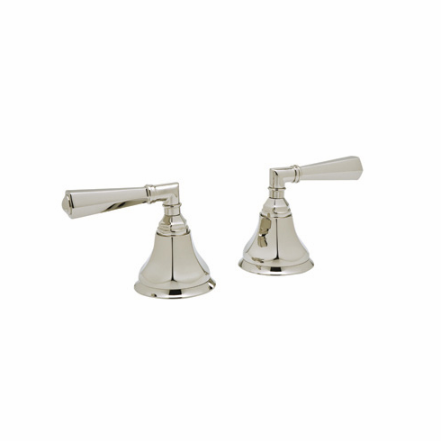 ROHL A7922LMPN Rohl Palladian Pair Of 3/4^ Hot And Cold Sidevalves Only In Polished Nickel With Palladian Metal Levers For Deck Mounted Tub Fillers