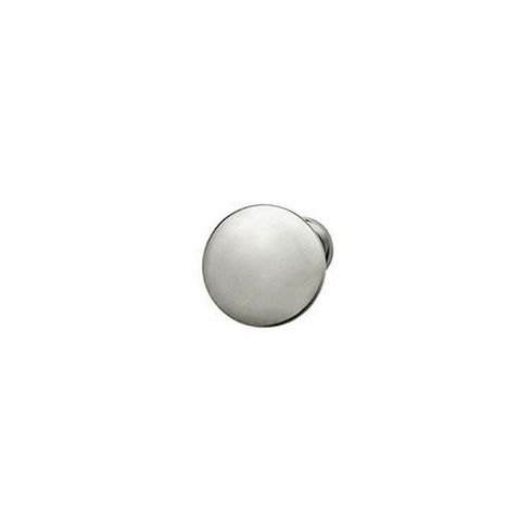Hafele 134.06.441 Mushroom Knob, Chanterelle, zinc, satin chrome, 115ZN23, 8-32, 30 x 28mm (each)