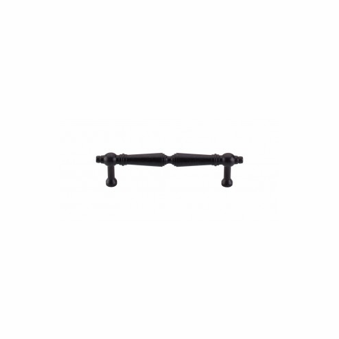 Top Knobs M803-96 ASBURY PULL 3 3/4 INCH (C-C)  Length: 4 3/4 in.Width: 7/16 in.Projection: 1 7/32 in.Center-to-Center*: 3 3/4 in.Base Diameter: 3/8 in.  Finish: Patina Black