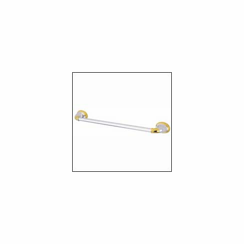 Kingston Brass Magellan ba622cpb Wall Mount Towel Bar 18 inch Polished Chrome with Brass Accent