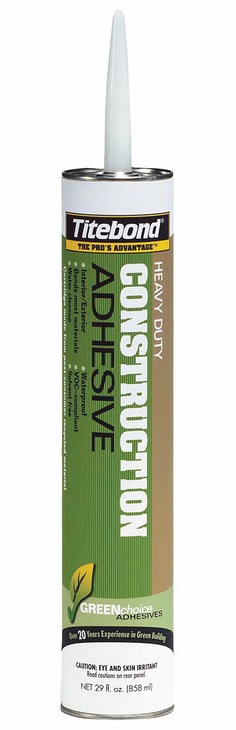 Hafele 003.50.196 Titebond, GREENchoice, heavy duty construction adhesive, 28 ounce (12 pcs/pkg***)