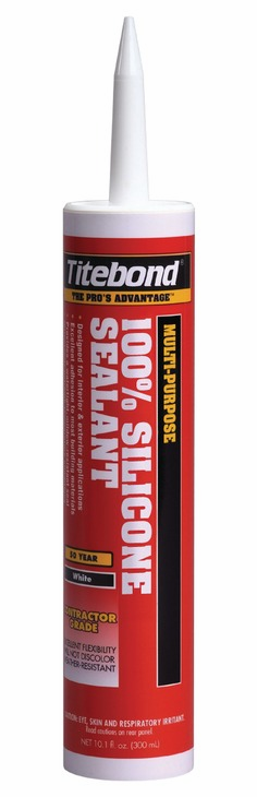 Hafele 003.51.010 Titebond 100% Silicone black sealant 10.1 ounces (12 pcs/pkg***)