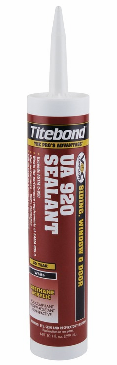 Hafele 003.55.050 Titebond, UA 920, water based, urethane acrylic sealant, white, 10.1 oz tube (each)