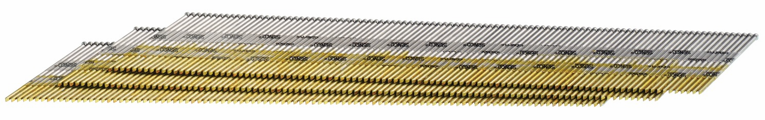 "Hafele 006.50.894 Senco DA13EPBN 15 gauge x 1"" chisel point 34 degree angled strip finish nails bright basic"